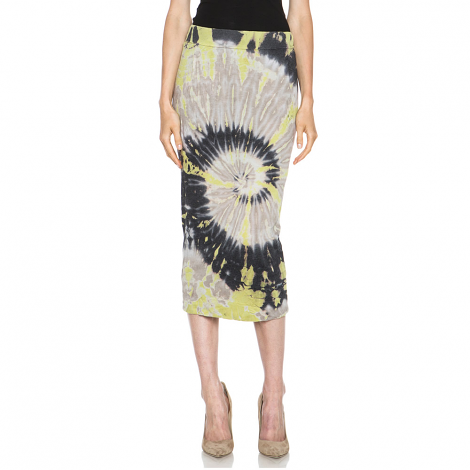 Deconstructed Pencil Skirt in Shell Tie Dye