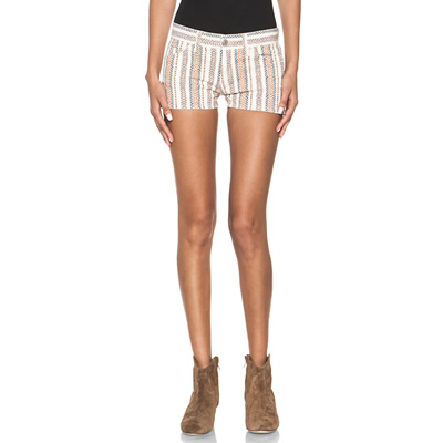 Charly Striped Shorts in Moutarde