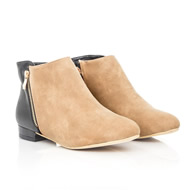 Preysi Contrast Leather and Suede Ankle Boots