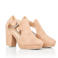 Enya Leather Cut Out Boots In Tan