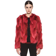 Fur Jacket in Red