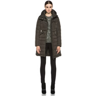 Flamme Coat in Olive