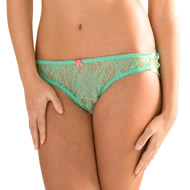 Mimi Holliday Emerald Lace Classic Knickers