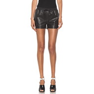 Nappa Leather Shorty in Black