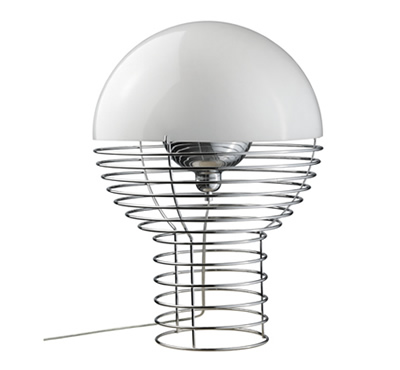 Verpan wire table lamp white