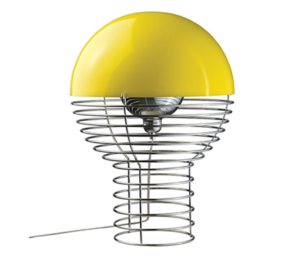 Verpan wire table lamp yellow
