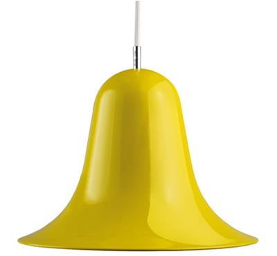 Verpan pantop pendant light yellow