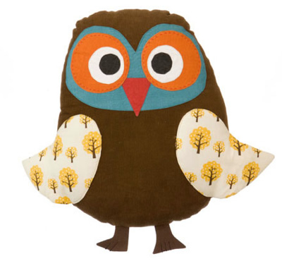 Owl cushion by ferm living