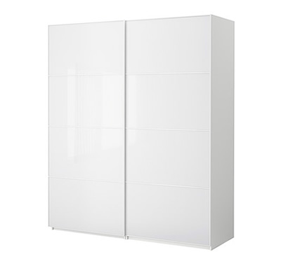 Pax wardrobe with sliding doors white
