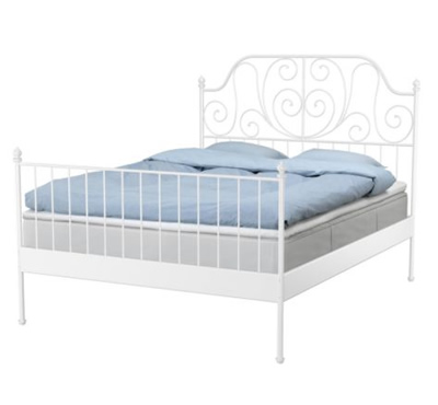 Leirvik bed frame with slatted bed base
