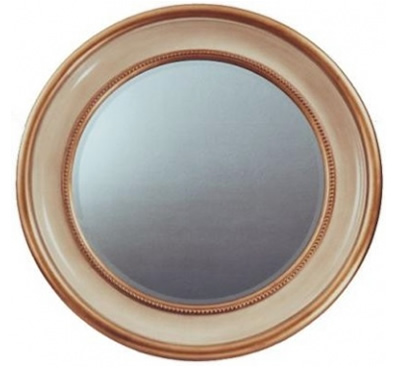 Large round mirror - gold