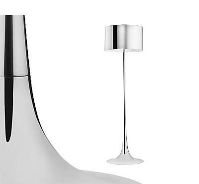 Flos spun light polished floor light