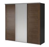 Elga wardrobe with 3 sliding doors