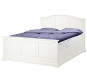 Birkeland bed frame with slatted bed base