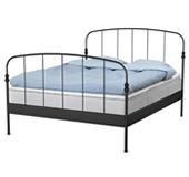 Lillesand bed frame with slatted bed base