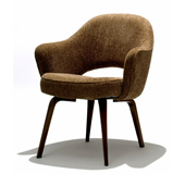 Saarinen executive arm chair with wood legs